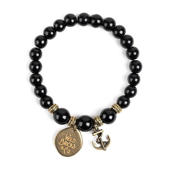 WB GEMSTONE BRACELET (black)