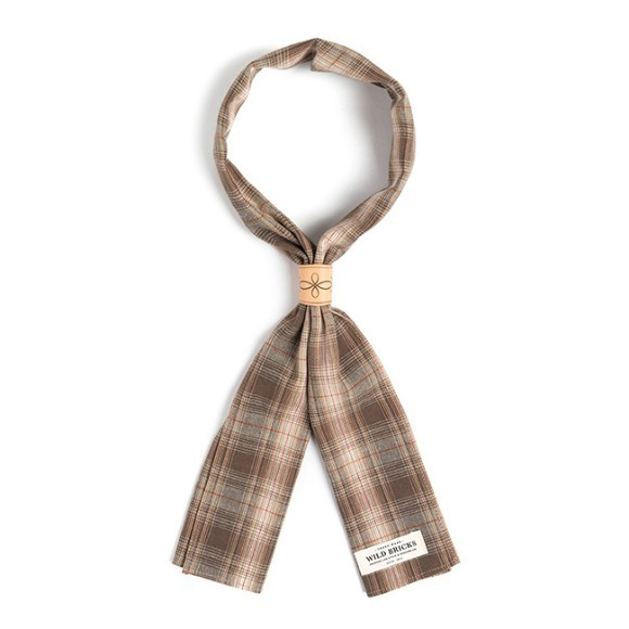 LPT CHECK SCARF (brown)