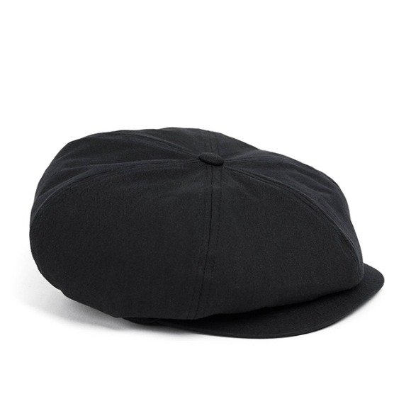 HBT COTTON NEWSBOY CAP (black)