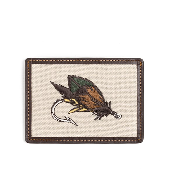 FLY FISHING CARD CASE (dark brown)