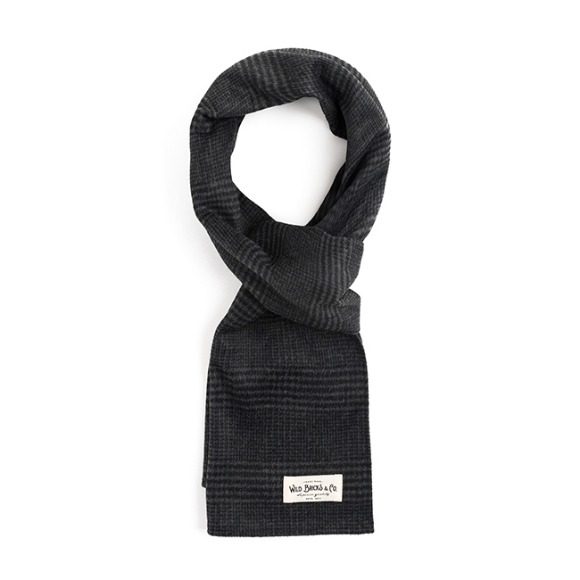GLEN CHECK STOLE (dark grey)