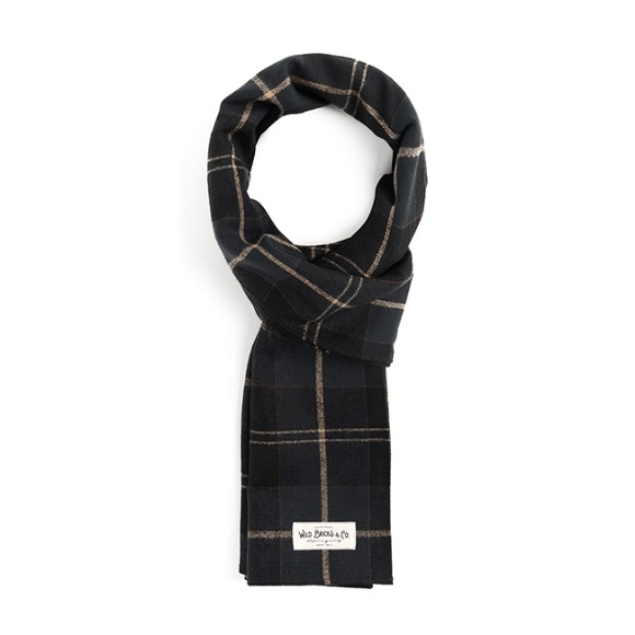 STC CHECK STOLE (black)
