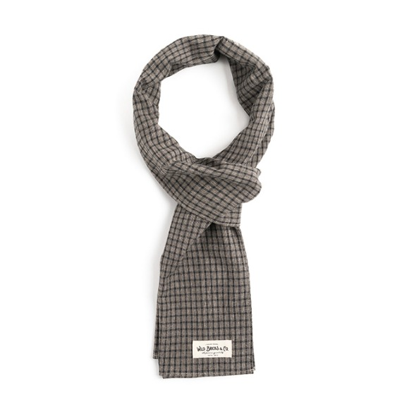 WD FINE CHECK STOLE (light grey)