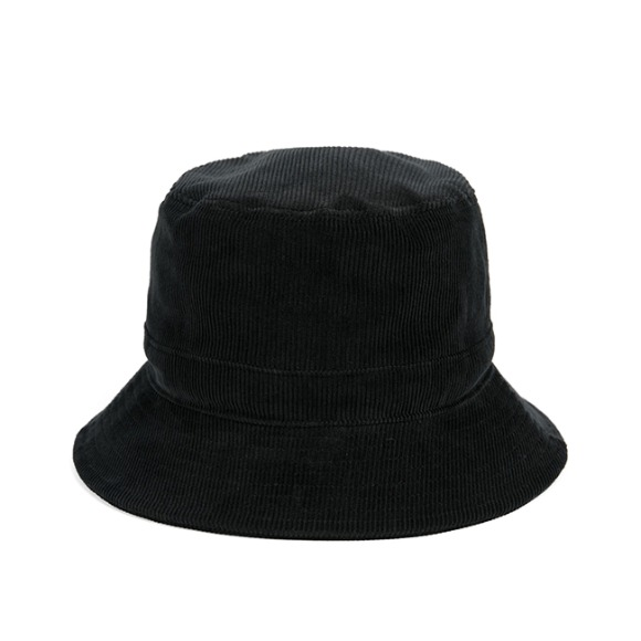 PL CORDUROY BUCKET HAT (black)