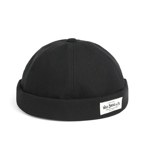 BI OXFORD BRIMLESS CAP (black)