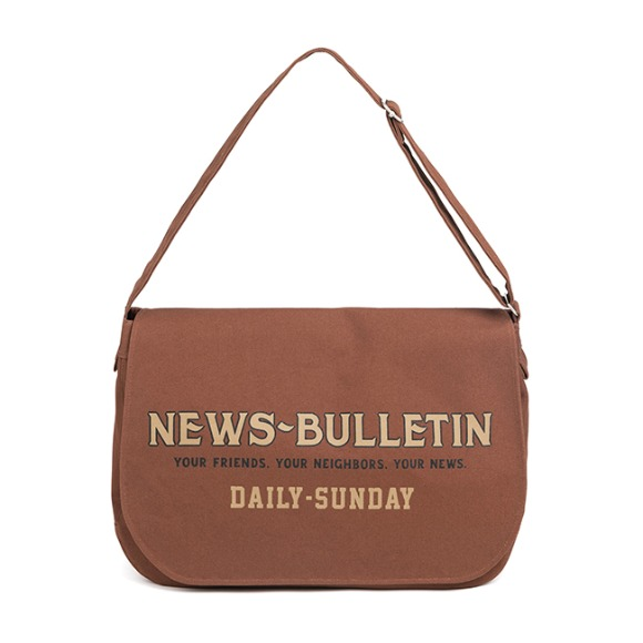 CANVAS NEWSBOY BAG (red brown)