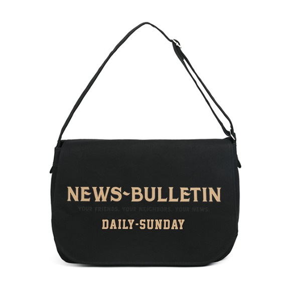 CANVAS NEWSBOY BAG (black)