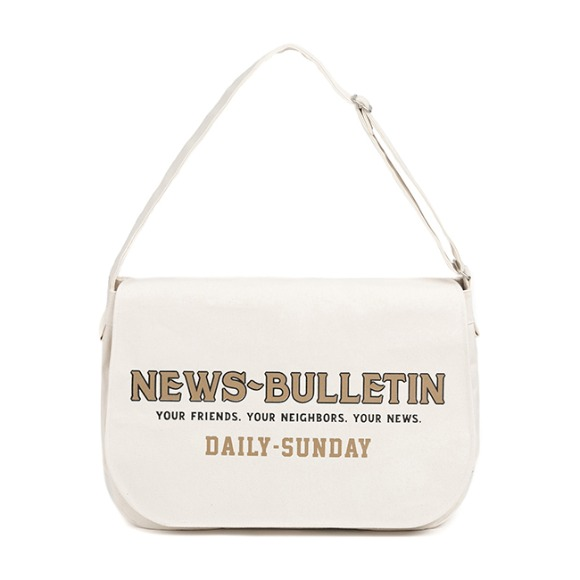 CANVAS NEWSBOY BAG (ivory)