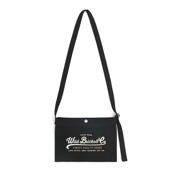 COTTON MINI CROSS BAG (black)