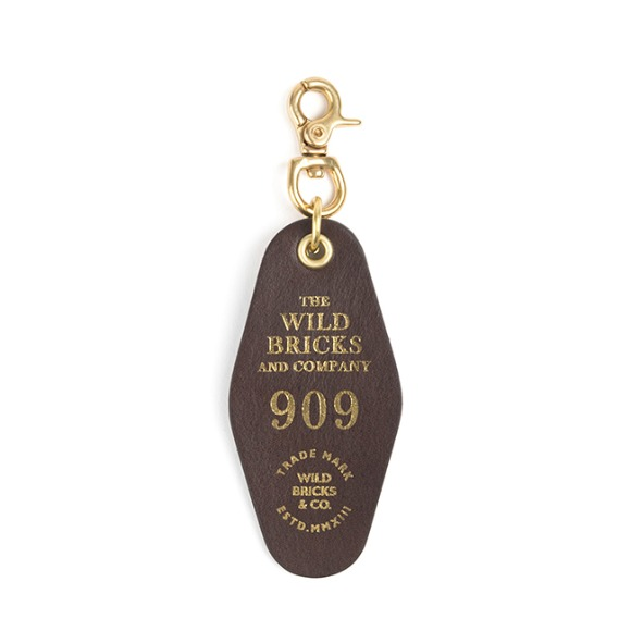 909 LEATHER KEY RING (dark brown)
