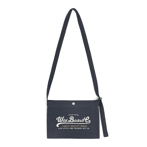 COTTON MINI CROSS BAG (navy)