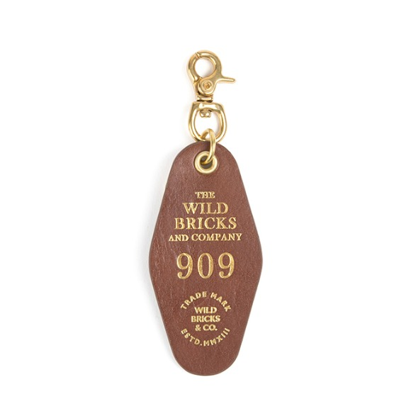 909 LEATHER KEY RING (brown)