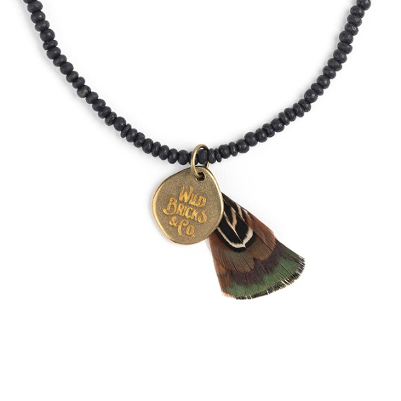 COCONUT WOOD NECKLACE (black)
