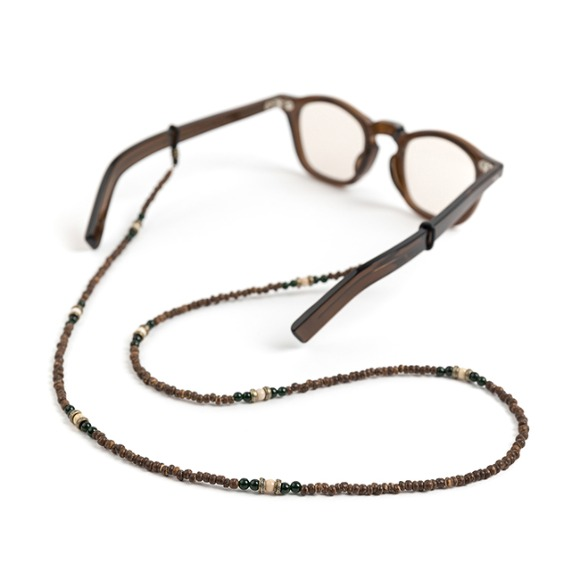 CP WOOD GLASSES STRAP (brown)