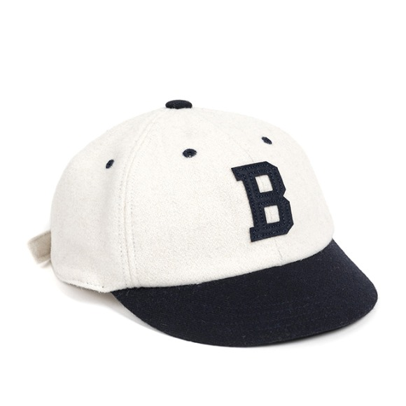 MELTON WOOL BASEBALL CAP (navy)