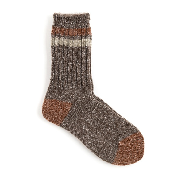 AP MELANGE SOCKS (brown)