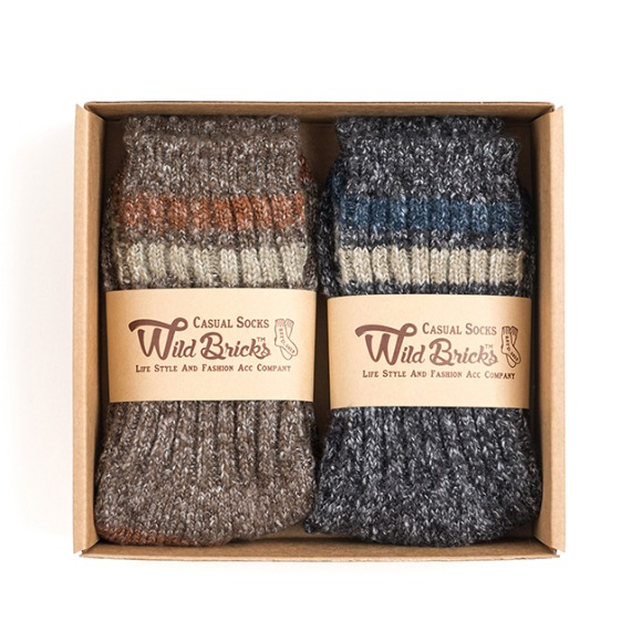 AP MELANGE SOCKS SET (brown/charcoal)