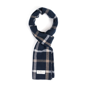 PIN CHECK STOLE (navy)