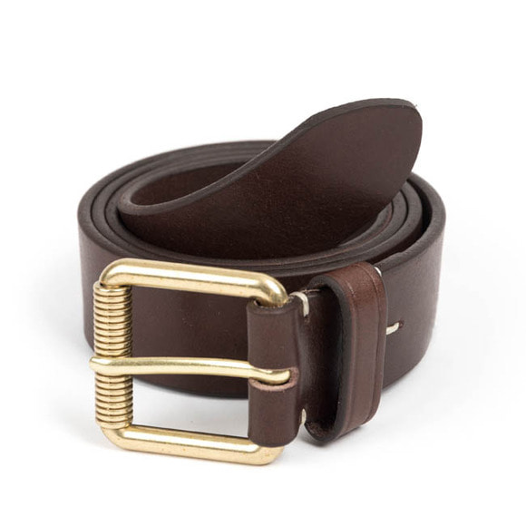 VIN LEATHER BELT (dark brown)