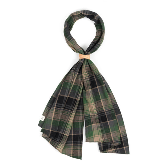 MD CHECK SCARF (green)