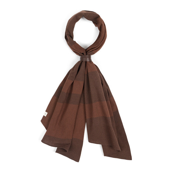 BD STRIPE SCARF (brown)