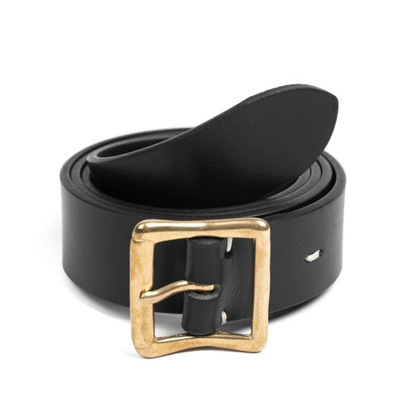 CB BRASS LEATHER BELT (black)