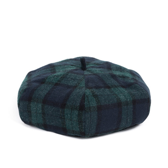 WOOL BLACK WATCH BERET (green)