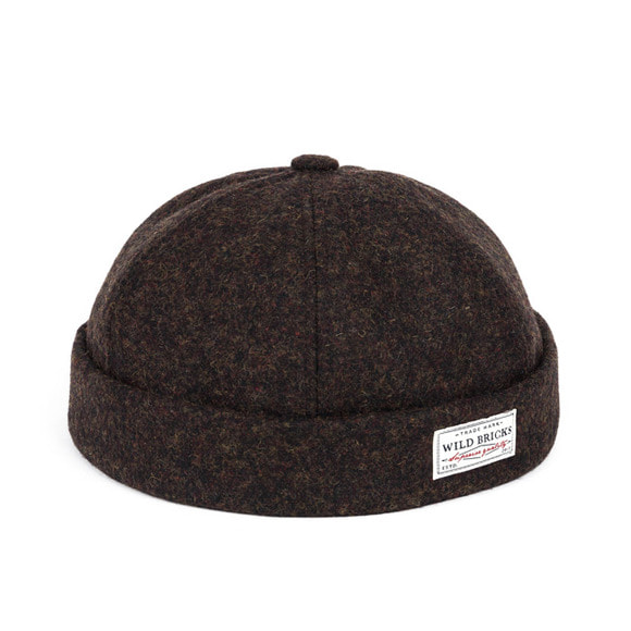 [프리오더 10/22 출고]WOOL MELANGE BRIMLESS CAP (brown)