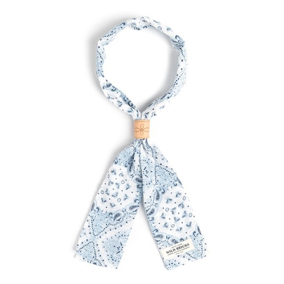 TWO-TONE PAISLEY SCARF (white)