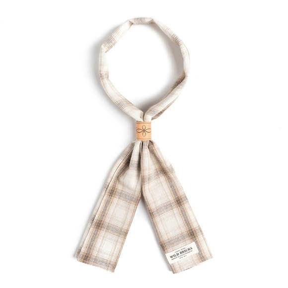 LPT CHECK SCARF (beige)