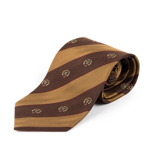 WB SILK TIE (brown)