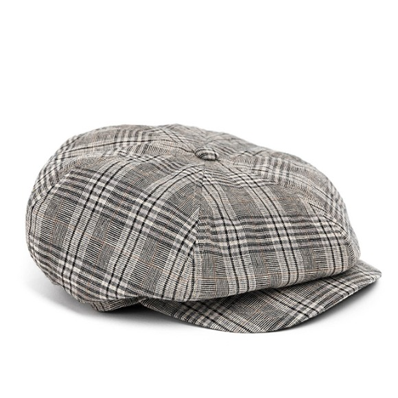 BPG CHECK NEWSBOY CAP (grey)