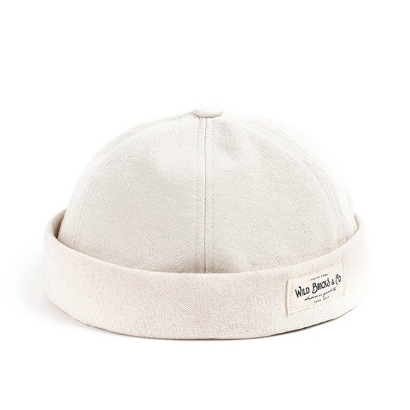 VIN OXFORD BRIMLESS CAP (ivory)