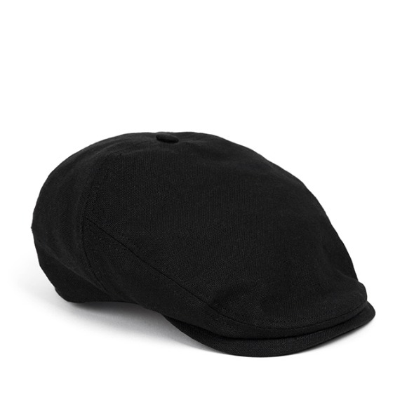 LINEN-COTTON HUNTING CAP (black)