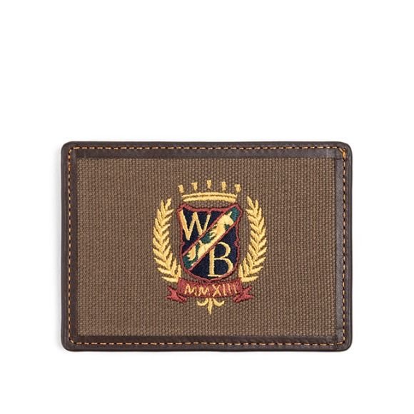 WB CARD CASE (dark brown)