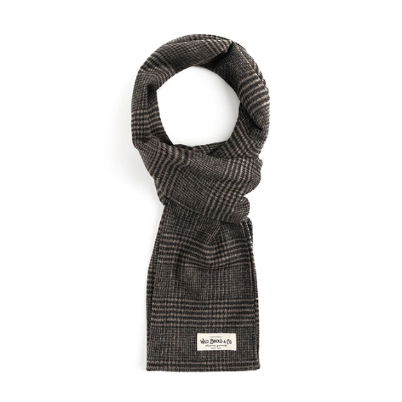 GLEN CHECK STOLE (light grey)