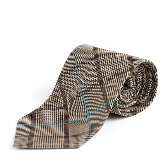 MP GLEN CHECK TIE (beige)