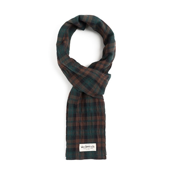 BG TARTAN CHECK STOLE (brown)