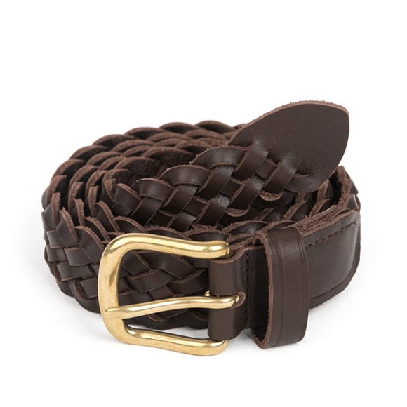 BS WOVEN LEATHER BELT (dark brown)