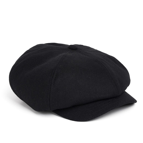 MELTON WOOL NEWSBOY CAP (black)