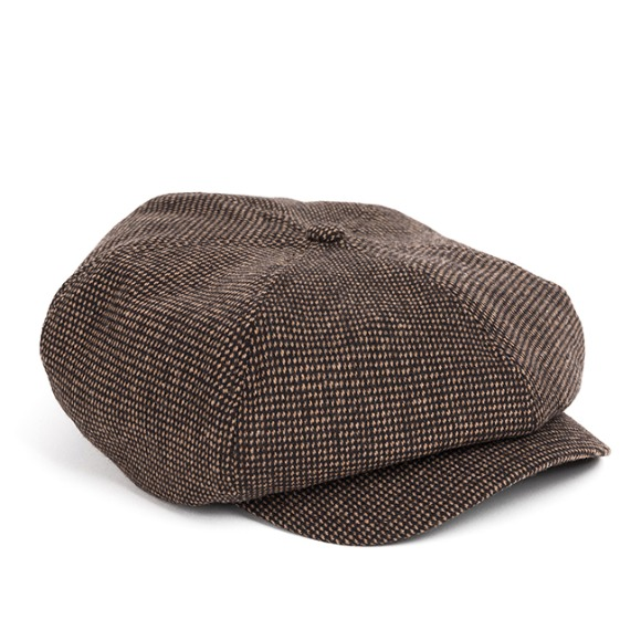 HOMESPUN NEWSBOY CAP (brown)
