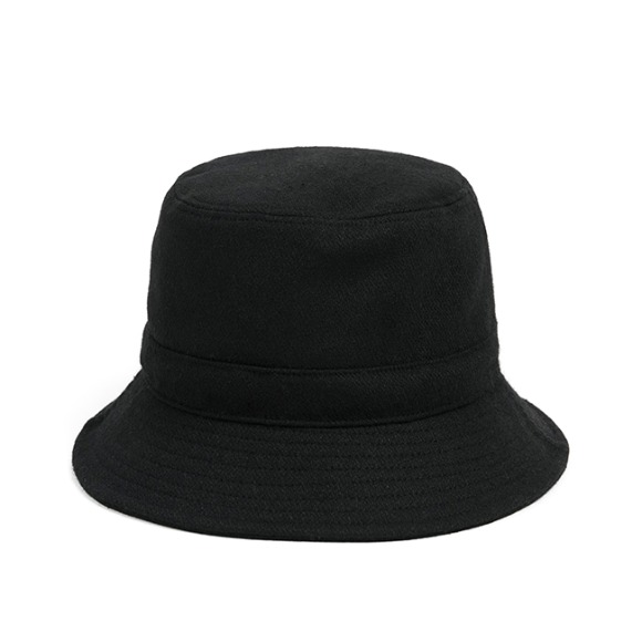 MELTON WOOL BUCKET HAT (black)