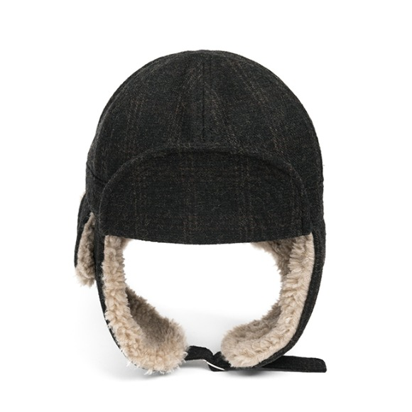 CH WOOL TRAPPER HAT (dark grey)