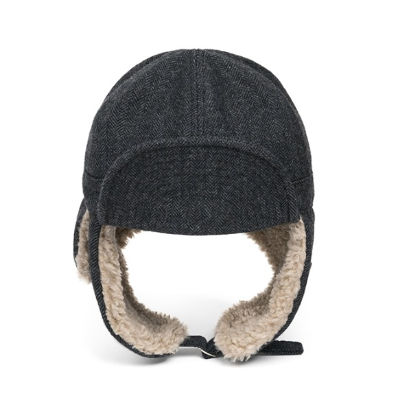HBT WOOL TRAPPER HAT (grey)