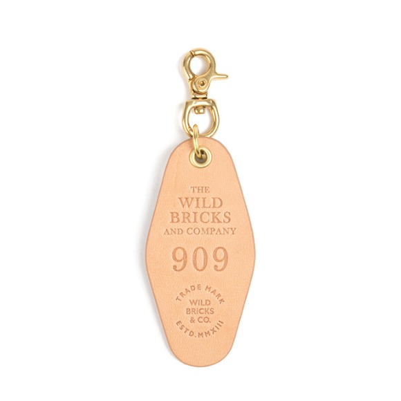 909 LEATHER KEY RING (beige)