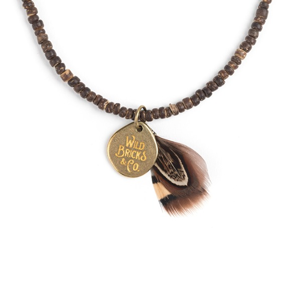 COCONUT WOOD NECKLACE (brown)