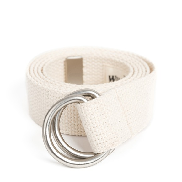 HEAVY WEIGHT SV D-RING BELT (ivory)