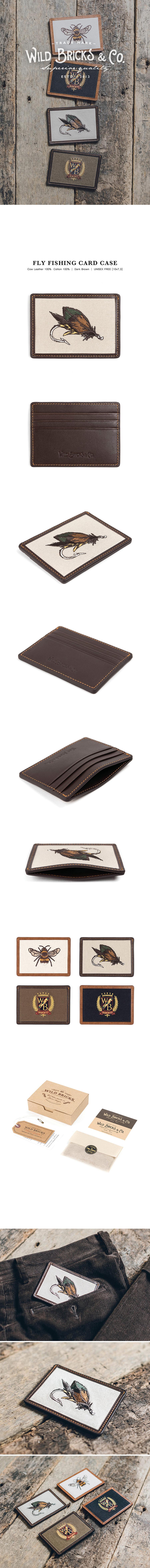 와일드 브릭스(WILD BRICKS) FLY FISHING CARD CASE (dark brown)